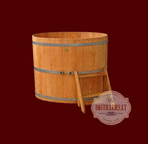 Oak soaking bathtub, 700 l