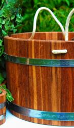 Oak washtub with cord